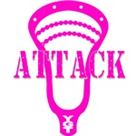 Lacrosse Attack Head Pink