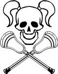 Lacrosse Lady Skull