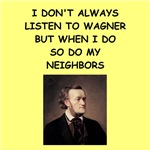 a funny wagner joke on gifts and t-shirts