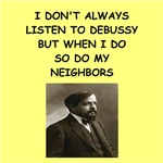a funny debussy joke on gifts and t-shirts.