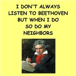 a funny beethoven joke on gifts and t-shirts.