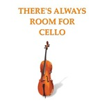 a funny cellist joke on gifts and t-shirts.