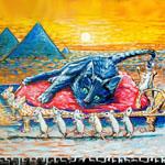 CleoCatra Rockwell's Original Donation painting
