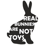 REAL BUNNIES ARE NOT TOYS - Black