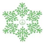 Snow Peace - Green Dots