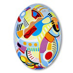 <b>Glass Ornaments</b><br>Oval and Round
