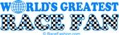World's Greatest Race Fan (in blue)