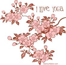 Sakura Cherry blossom I love yoga