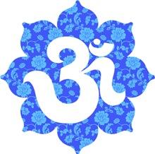 Om Lotus in Blue