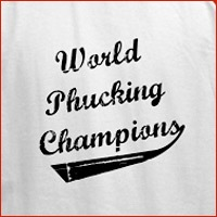 World Phucking Champions, Black/White Text