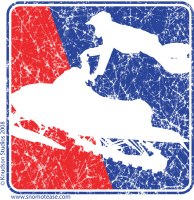 Red White and Blue Extreme Sledder Distressed