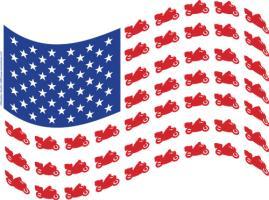 Cruiser Patriotic Flag Wave
