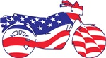 Patriotic OLD Time Motorcycle