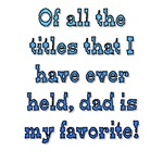 Dad is my Favorite
