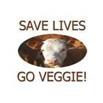 SAVE LIVES GO VEGGIE!