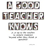 It is up to the Teacher to inspire students beyond