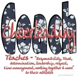Cheer Coach Blue Floral Pattern