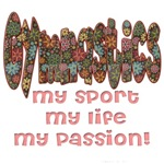 Brown Floral My sport, My Life, My Passion