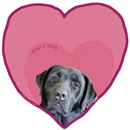 Black Lab Heart Dog