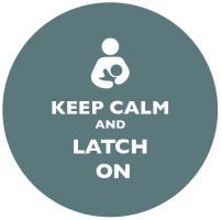 Keep Calm and Latch On Grey