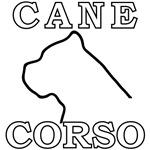 Cane Corso Logo White