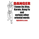 Danger: I know karate and other words - fun shirts