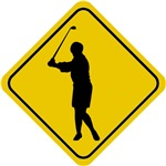 Golf Crossing Sign (Woman)