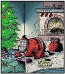 Santa burnt
