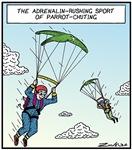 Parrot-chuting