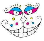 CMYK Clown Face