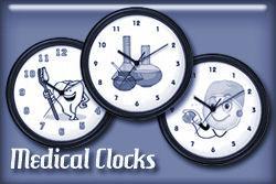 Medical Occupation Wall Clocks