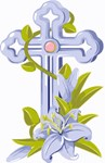 Christian Easter Floral Cross