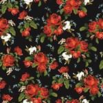 Vintage Red Roses Floral