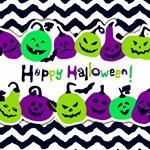 Halloween Green Purple Pumpkins