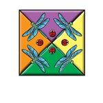 dragonfly lady bug art