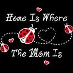 Ladybug Home Is Mom WHT