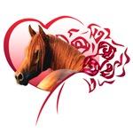Chestnut Arab Heart