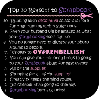 Top 10 Reasons to Scrapbook