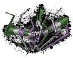 Graffiti Genderqueer Lightning and Arrows