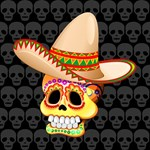 Mexico Sugar Skull with Sombrero