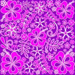 Hibiscus Pink and Purple Pattern