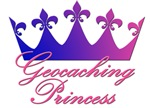 Geocaching Princess - Blue & Pink Crown
