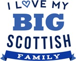 I Love My Big Scottish Family Tshirts