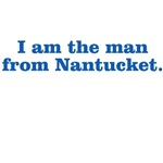 I am the man from Nantucket (blue printing)