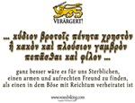 Ganz besser - Far better (Antiqua)