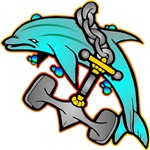 Dolphin w/ Anchor