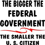 Bigger Fed-Gov Smaller US Citizen
