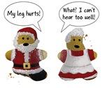 My leg hurts! What? Santa