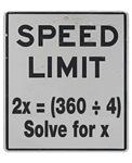 Speed Limit Math