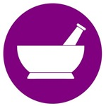 Purple Circle Mortar and Pestle